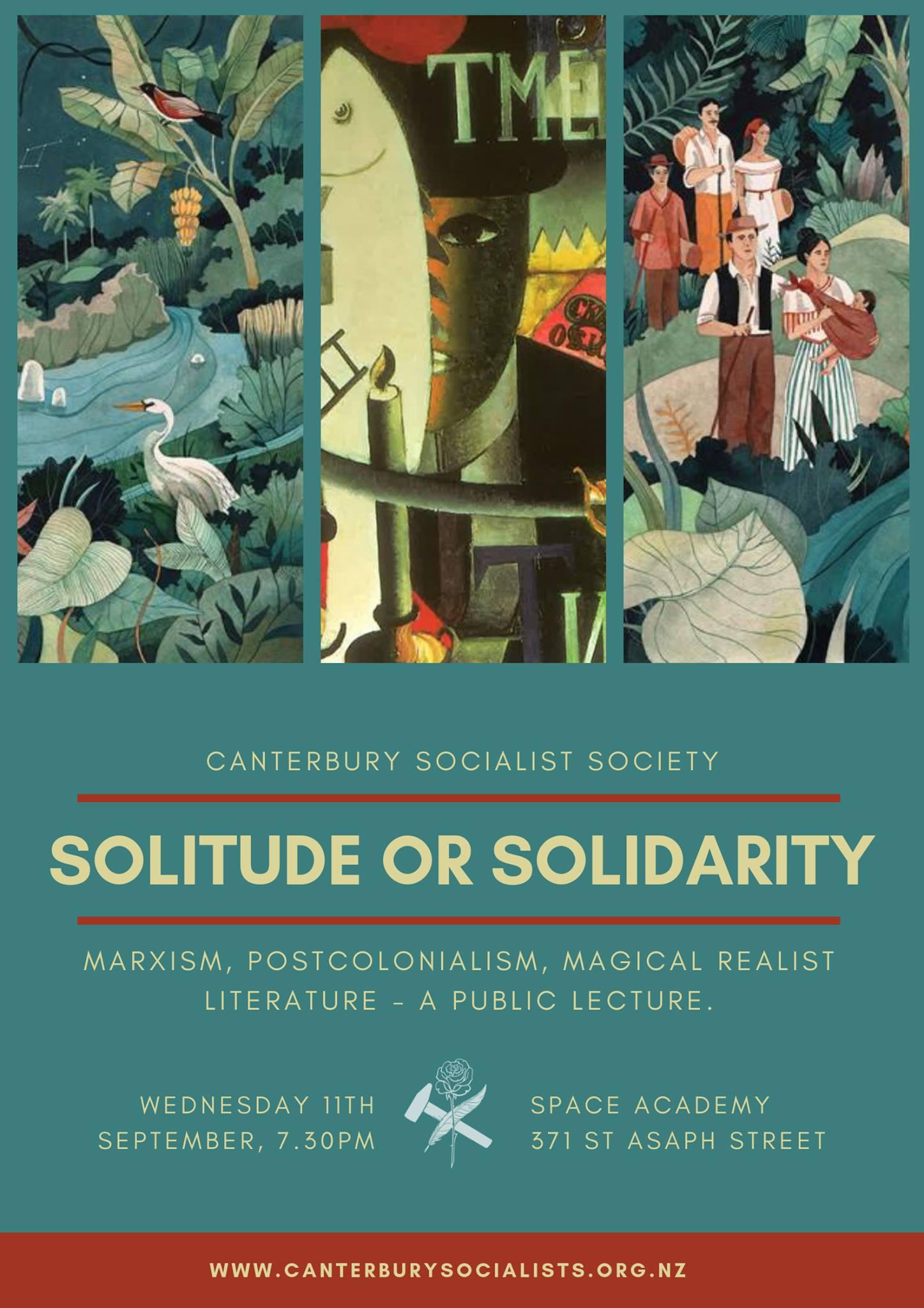 POSTPONED: CSS Public Lecture: Solitude or Solidarity