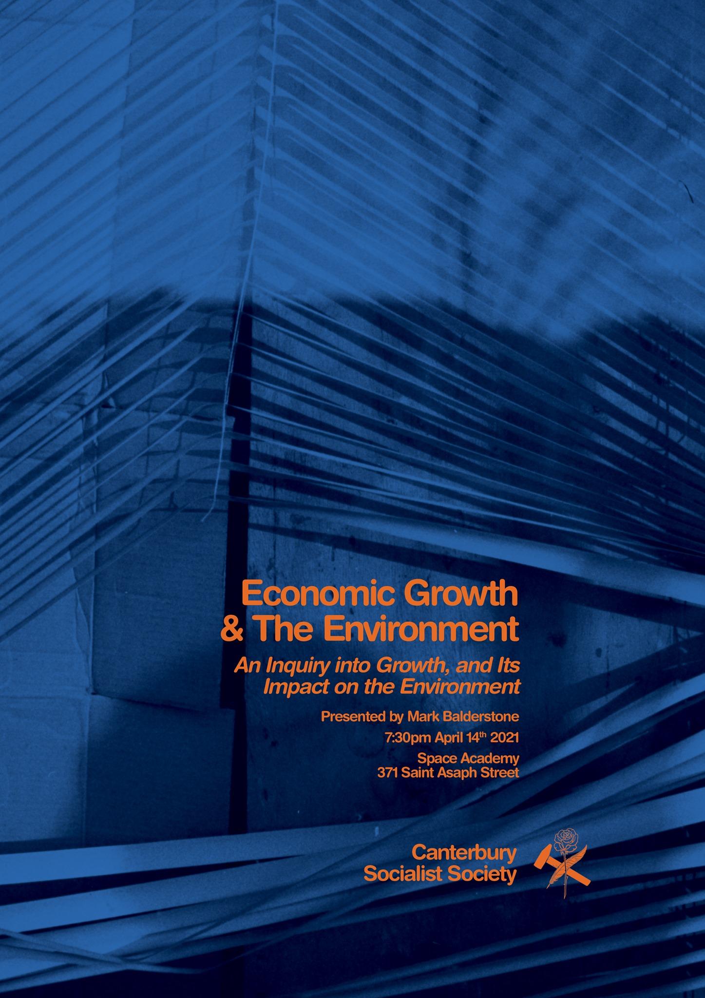 CSS Public Lecture: Economic Growth & The Environment